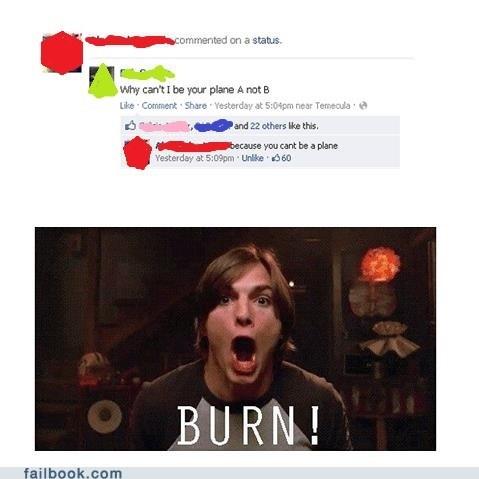 ashton kutcher,burn,plan,plane