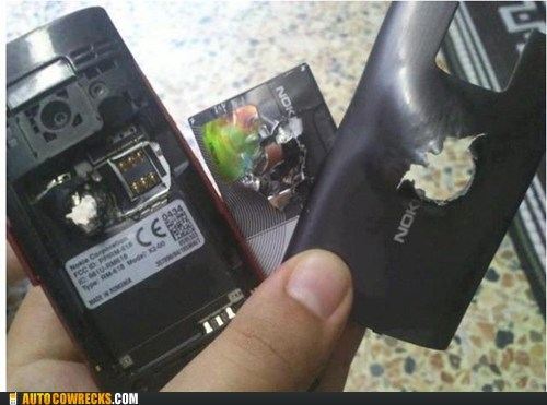 AutocoWrecks,bulletproof,bullets,g rated,life saved,nokia
