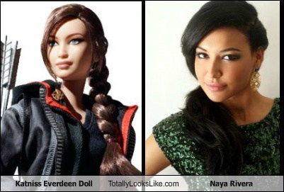 doll,funny,glee,katniss everdeen,naya rivera,hunger games,TLL