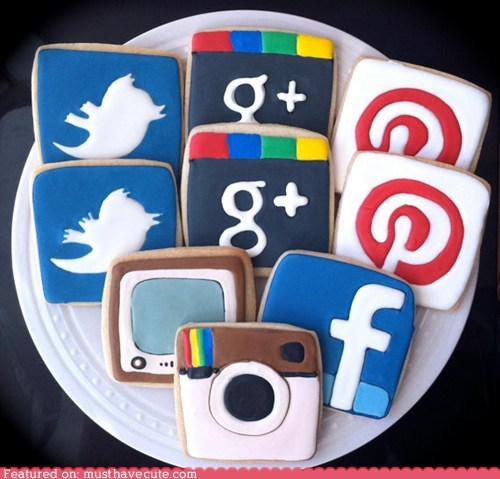 apps,cookies,epicute,icing,iphone,logos,pinterest,twitter