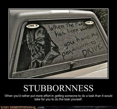 bane,car,hilarious,stubborn,wash