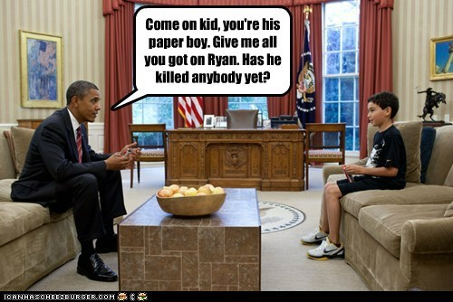 barack obama,bribery,dirt,information,kid,paperboy,paul ryan