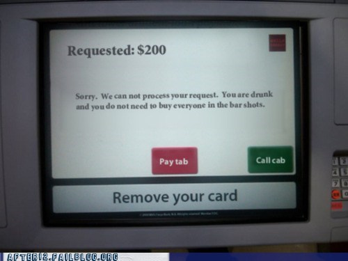 Thank You! Finally, An ATM That Looks Out for You!