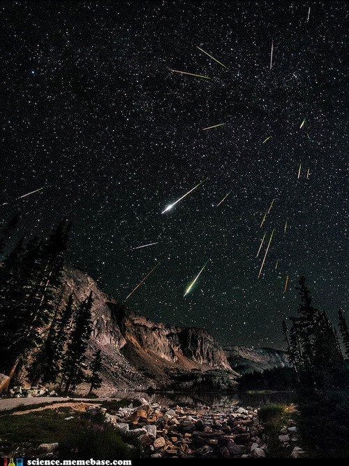 Perseid Meteorshower Long Exposure