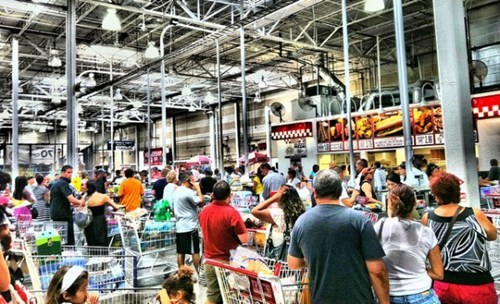 canadian shoppers,costco protest,only in america