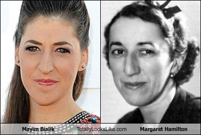Mayim Bialik Totally Looks Like Margaret Hamilton