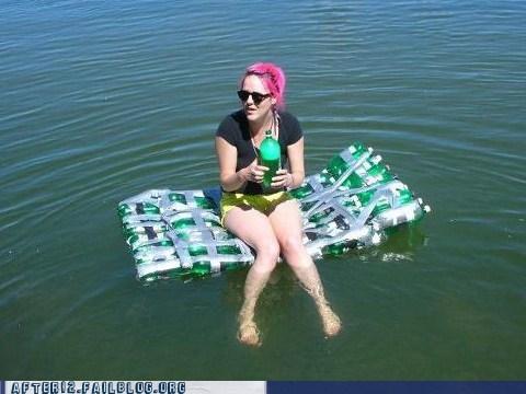 beer boat,lakes,rafts,swimming