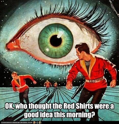 dead,eye,red shirts,sci fi,sky