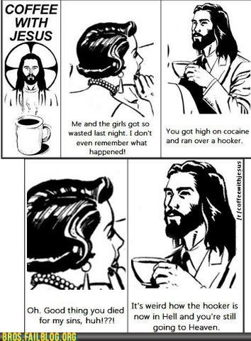 coffee,comic,drugs,jesus