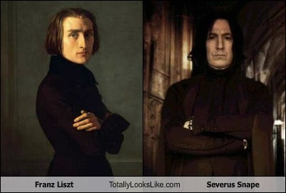 Franz Liszt Totally Looks Like Alan Rickman (Severus Snape from Harry Potter)
