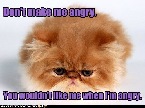 Don't make me angry.