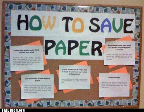Saving Paper FAIL