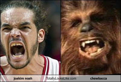 Joakim Noah Totally Looks Like Chewbacca from Star Wars