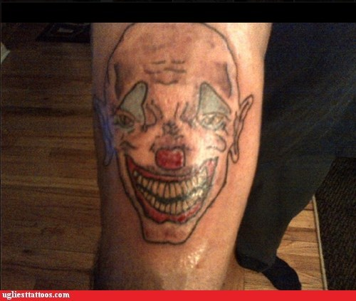 arm tattoos,scary clowns