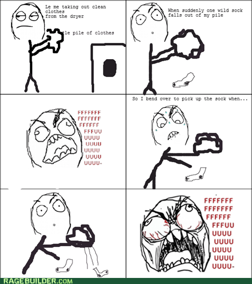 Rage Comics: Is This Where All My Socks Go?