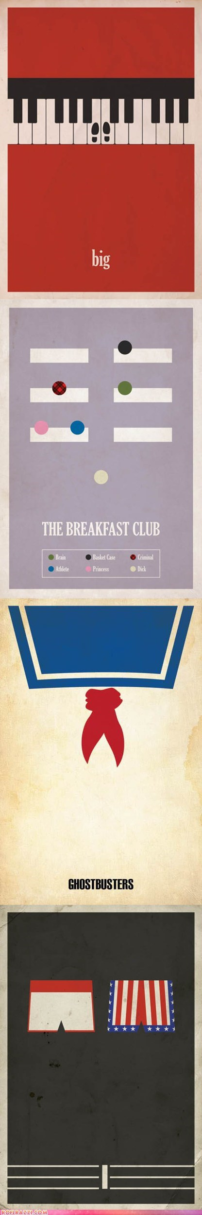 70s,80s,art,big,Ghostbusters,Movie,poster,rocky,the breakfast club