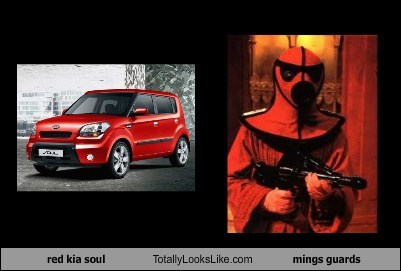 red kia soul Totally Looks Like mings guards