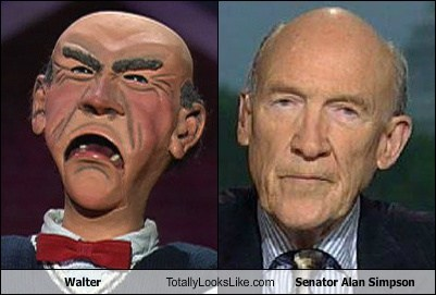 Walter the Puppet Totally Looks Like Senator Alan Simpson