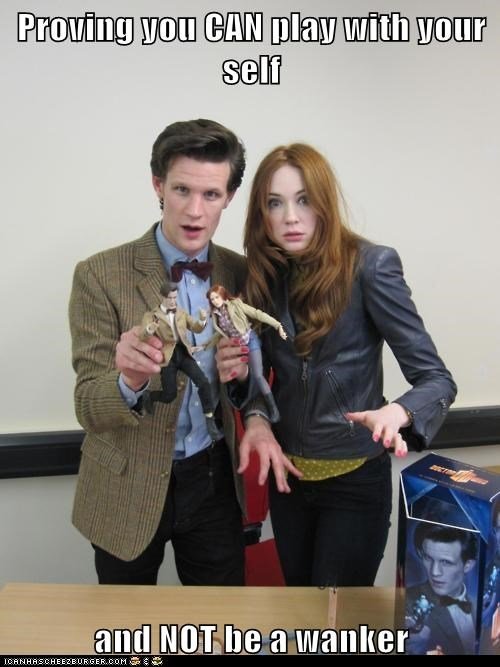 amy pond,karen gillan,Matt Smith,playing with yourself,the doctor,toys,wanker
