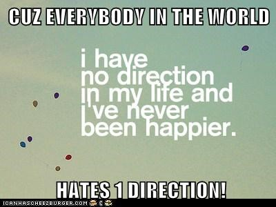 CUZ EVERYBODY IN THE WORLD   HATES 1 DIRECTION!