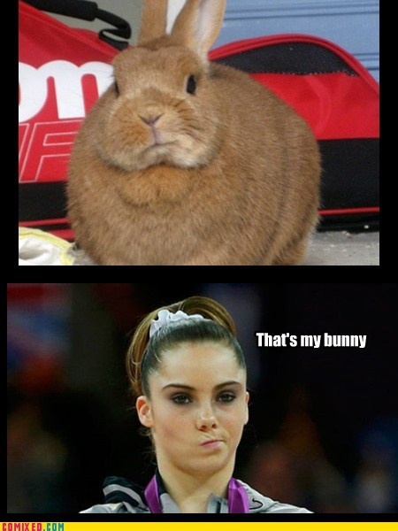 bunny,mckayla is not impressed