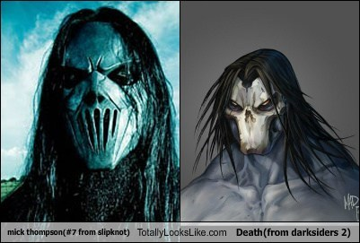 Mick Thompson (#7 from Slipknot) Totally Looks Like Death (from Darksiders 2)