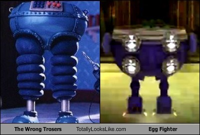 egg fighter,funny,robot,TLL,wrong trousers
