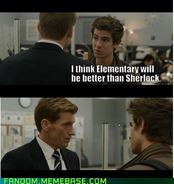 bad taste peter,elementary,Sherlock,Spider-Man