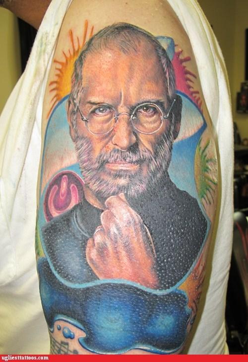 arm tattoos,steve jobs