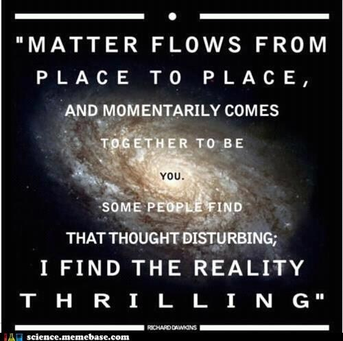 flows,matter,professor,reality,richard dawkins,science,thrilling