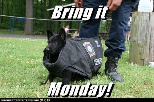 Bring it  Monday!