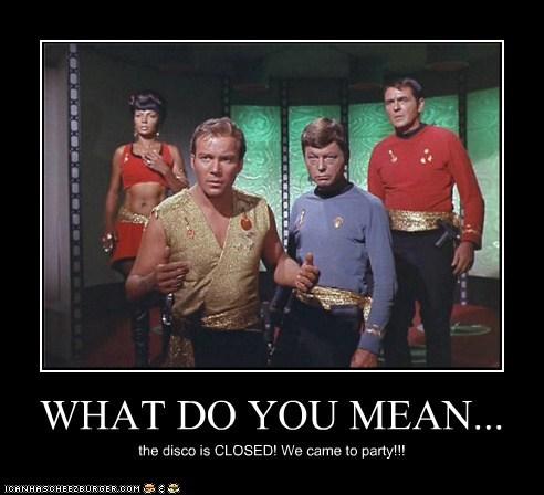 Captain Kirk,closed,DeForest Kelley,james doohan,McCoy,mirror mirror,Nichelle Nichols,scotty,Shatnerday,Star Trek,uhura,what do you mean,William Shatner