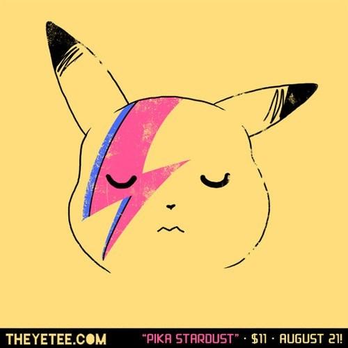 davido bowie,for sale,pikachu,shirt,ziggy stardust