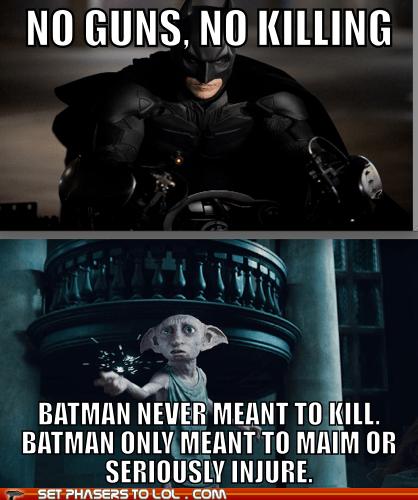 batman,bruce wayne,christian bale,Dobby,Harry Potter,house elf,injure,main,no killing