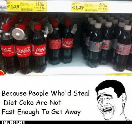 anti-theft,coca cola,diet coke,soda,yaoface