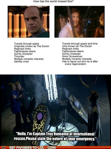 David Tennant,doctor who,Matt Smith,robert picardo,similarities,start trek,the doctor,voyager