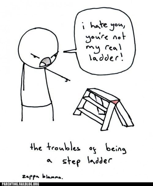 comic,step father,step ladder