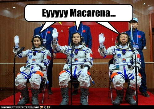astronauts,chinese,Macarena,song,space suits,testing
