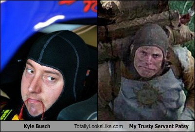 Kyle Busch Totally Looks Like Terry Gilliam (My Trusty Servant Patsy)