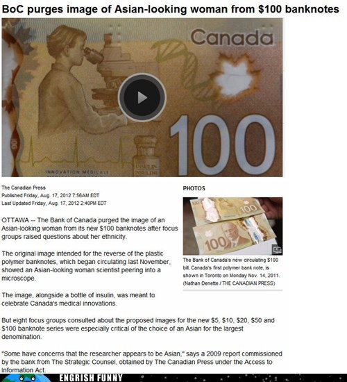 International Headlines: Canadian Currency Must Be Pure!