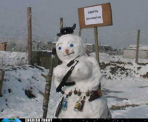Russian Snowmen Patrol the Outermost Borders