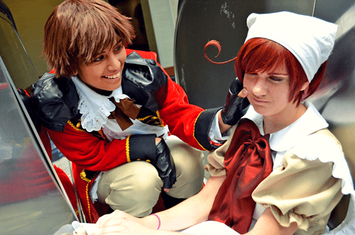 axis powers,chibi,cosplay,hetalia,romano,Spain