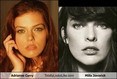 Adrianne Curry Totally Looks Like Milla Jovovich