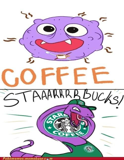 arbok,caffeine,Koffing,Starbucks