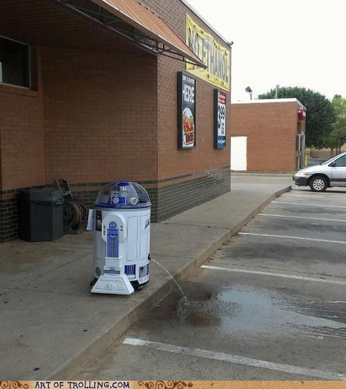 He Had a Rough Night at the Cantina