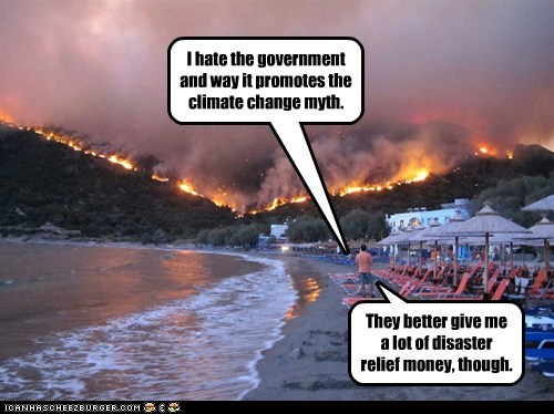 I hate the government and way it promotes the climate change myth.