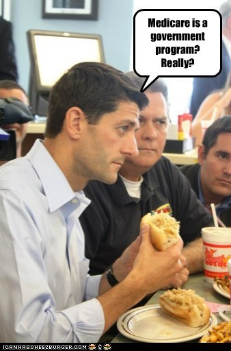 government programs,learning,medicare,paul ryan,really,sandwich,surprise
