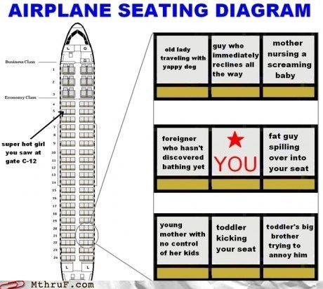 I'm Pretty Sure There's a Circle of Hell That's Just an Airplane Coach Section