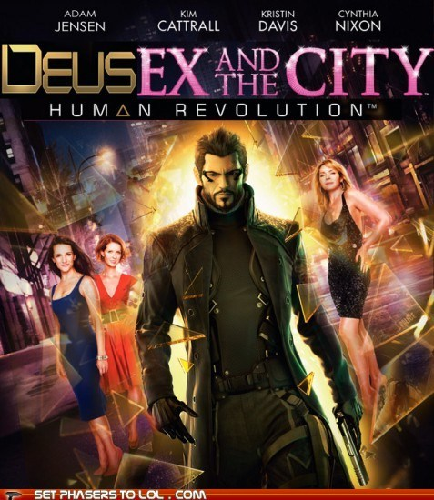 adam jensen,deus ex human revolution,i never asked for this,sex and the city