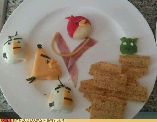 angry birds,cheese,crackers,eggs,snack,sunchips